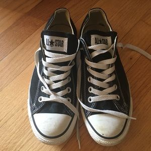 Black and white Chuck Taylor All Stars